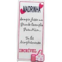 Placa Madrinha Incrivel