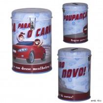 Mealheiro de lata Carro...