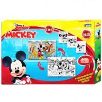 Puzzle para colorir Mickey...
