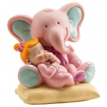 Deco Bolo Elefante com bebé