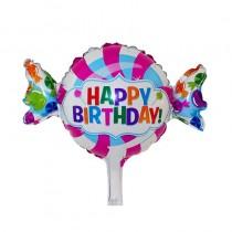 Balão Rebuçado Happy Birthday