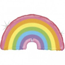 Balão Foil Arco Íris pastel...