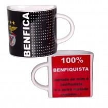 Meia Caneca Benfica Preta