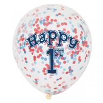 Balões latex com confetis...
