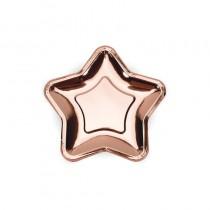 Pratos Estrela Rosa Gold 17cm
