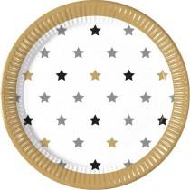 Pratos estrelas milestone 23cm