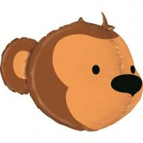 Balão Foil Cara Macaco 3D