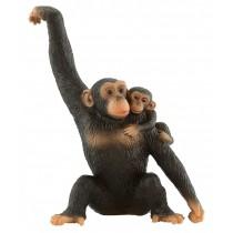 Deco bolo chimpanzé com bebé