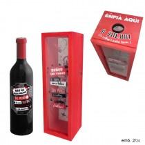 Caixa Madeira Vinho Beber Amor