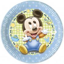 Pratos Baby Mickey 18cm
