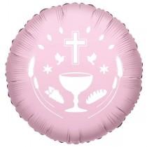 """Balão Foil Comunhão Rosa 18"""""""