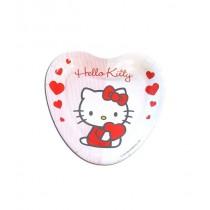 Pratos coração Hello Kitty